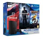 PlayStation 4 černý 1TB - D Chasiss (slim) + hry DRIVECLUB + Uncharted 4 + Ratchet & Clank + DS4 ZDARMA!!!