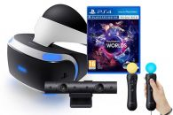 PlayStation VR + hra VR Worlds + kamera + PS Move