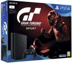 PlayStation 4 černý 1TB - E Chasiss + hra Gran Turismo Sport + That's You + PS Plus 14 dní